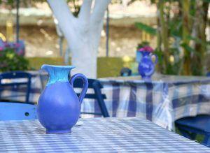 Greece Typical Village Island Taverna