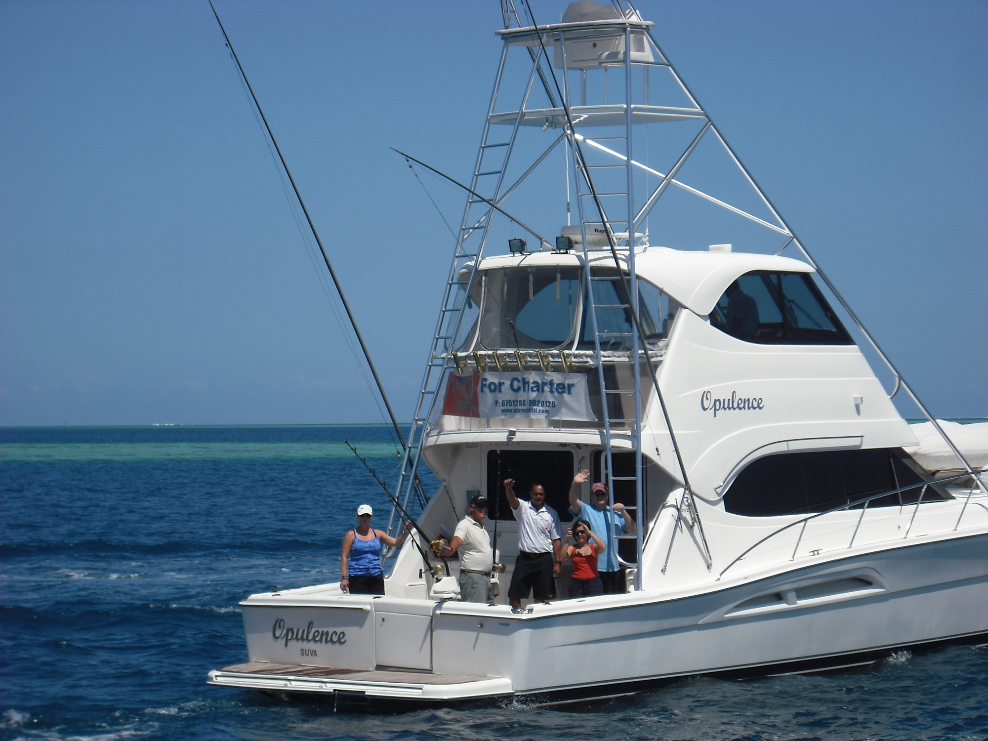 Fiji yacht charter deep sea fishing for Deep sea fishing boat