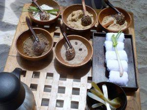 Silolona natural body scrubs, cooling wash cloths, and hot ginger tea