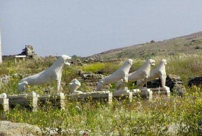 Delos, Greece Lion Statuary www.njcharters.com