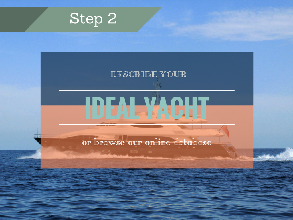 Step 2: Describe your ideal yacht or browse our online database