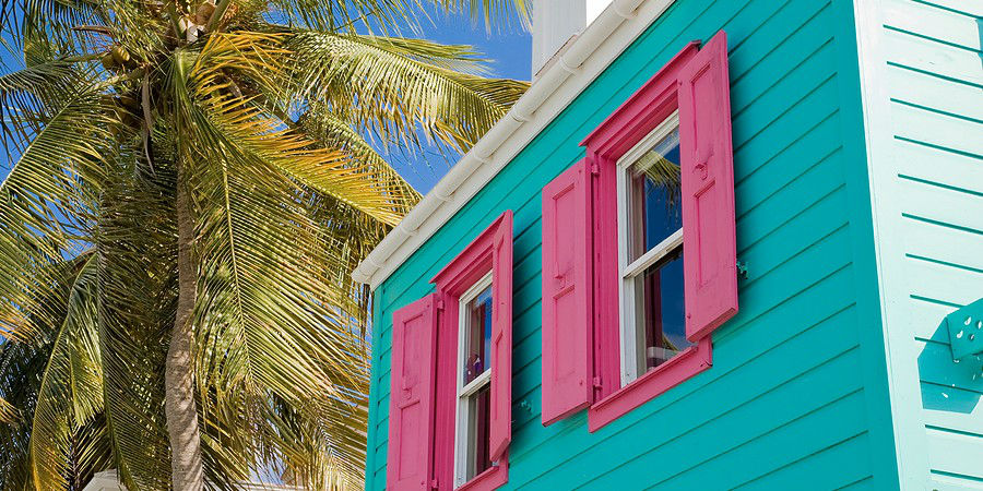 Enjoy the Bright House Colors in the Caribbean Islands www.njcharters.com