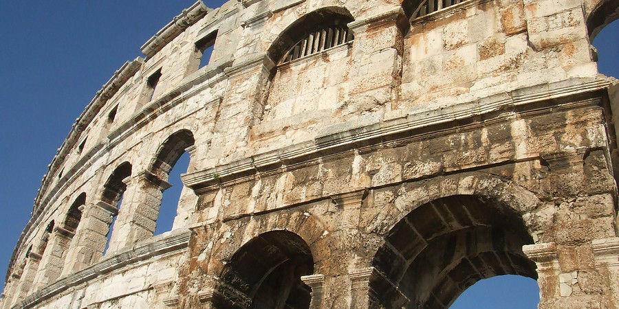 See the Roman Coliseum Remains in Pula, Croatia  www.njcharters.com
