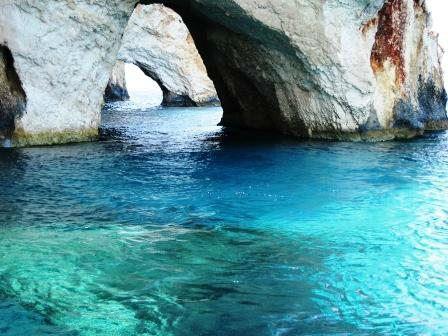 Corfu caves in Paleokastrits Bay www.njcharters.com