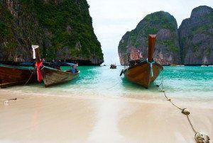 Fishing boats on Phi Phi Island www.njcharters.com