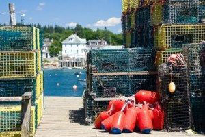 Lobster Traps And Buoys www.njcharters.com