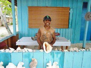 Raja Ampat Local Village Shell Shop www.njcharters.com