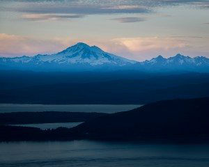 Mt. Constitution at dusk, Moran State Park, WA