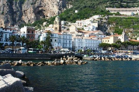 Amalfi town from water www.njcharters.com