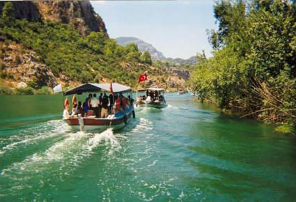 Cruising up the Dalyan River www.njcharters.com