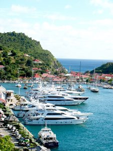 St. Barths Gustavia Harbor Aerial View