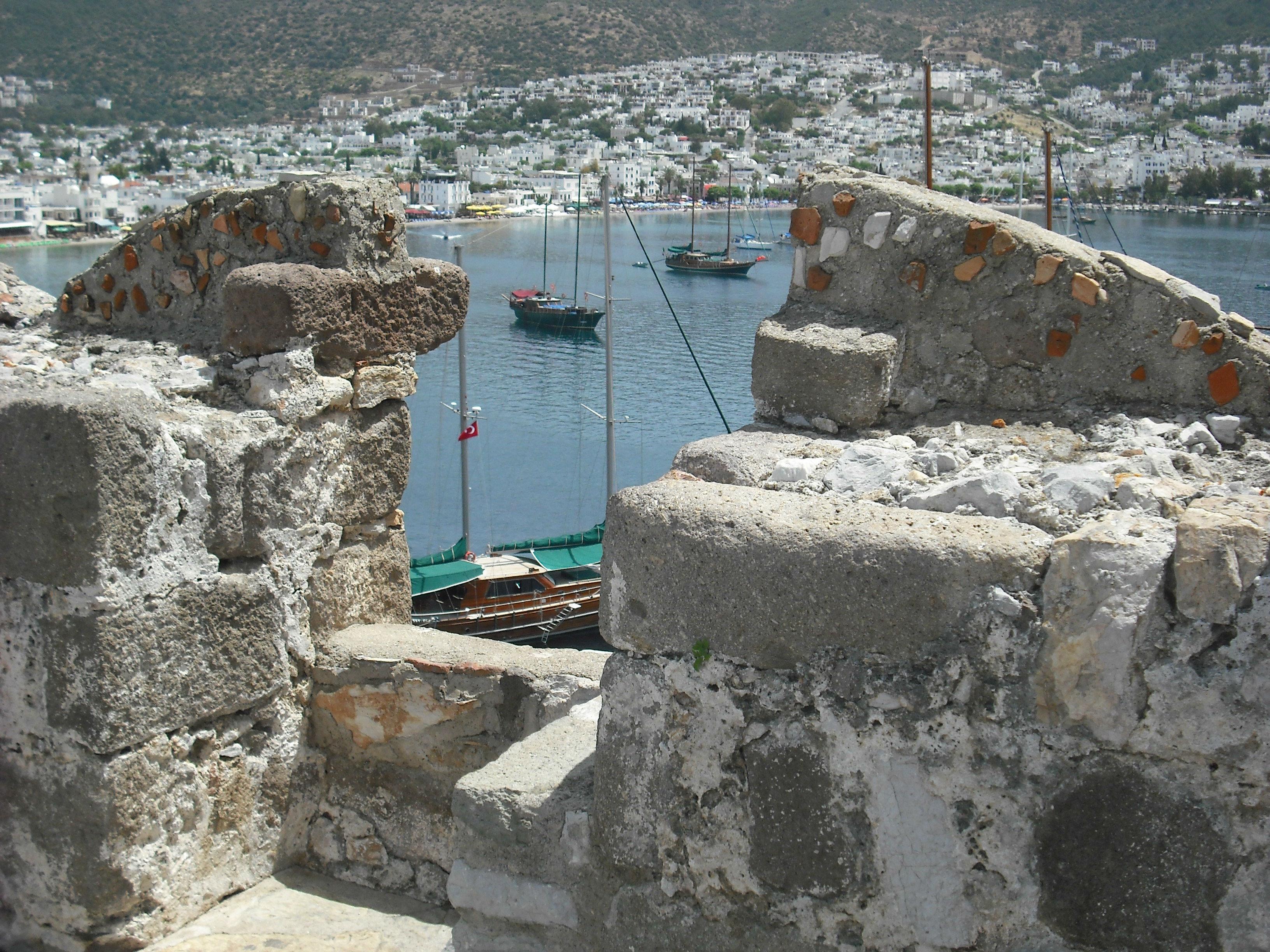Bodrum castle overlooking anchorage 22 www.njcharters.com