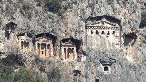 Dalyan River Lycian Temple Facade Tombs www.njcharters.com