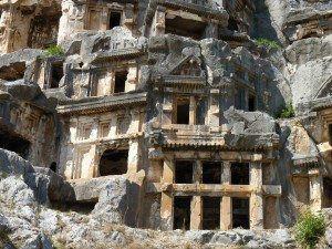 Demre Lycian Tomb Facades www.njcharters.com