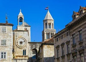 Diocletian palace in Split, Croatia - architecture travel background