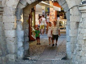 Rhodes Old Town Entrance through one gate www.njcharters.com