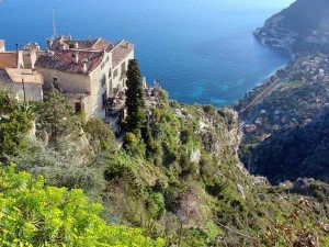 View of Eze and Coastline of French Riviera www.njcharters.com