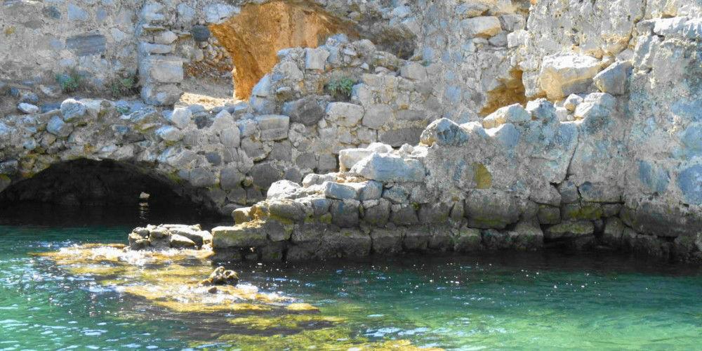 Gocek Bay, Turkey, Cleopatra's Baths Roman Ruins www.njcharters.com