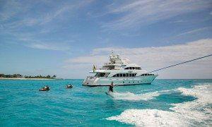 Water Fun on luxury yacht charter www.njcharters.com