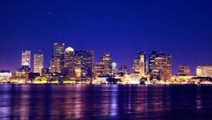 Boston Night Skyline www.njcharters.com