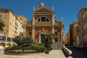 The Our Lady of the Assumption cathedral in Ajaccio city Corsica island France.