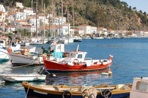 Fishing boats on Greek Islands