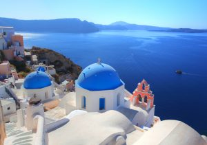 Rooftops of Santorini, Greece, yacht charter