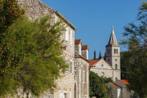 Catholic church in town of Zlarin on Zlarin island Croatia
