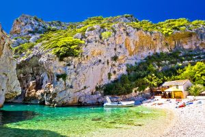 Amazing Stinva beach of Vis island Dalmatia Croatia