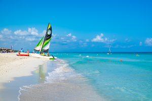 beautiful beach of Varadero in Cuba