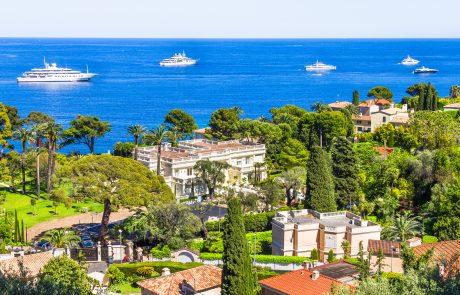 Aerial view of Cap Ferrat French Riviera