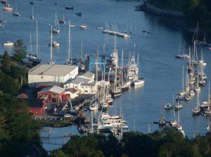 Camden Harbor Maine yacht charter njcharters.com