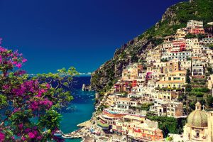 Italy , Amalfi coast , Positano . Beautiful cityscape