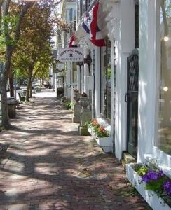 Main Street Nantucket , new england yacht charter