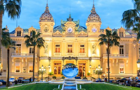 MONTE CARLO MONACO - March 12: People gathering in front of the world famous Casino of Monte Carlo. Monte Carlo Monaco on March 12 2016