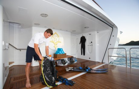 Northrop-Johnson VIP Yacht Charters feature a variety of watersports activities and water toys for fun