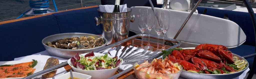 Chef Prepares Cuisine on Luxury Yacht Charter www.njcharters.com.jpg