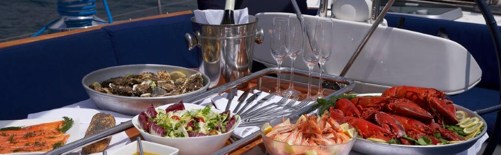 Chef Prepares Cuisine on Luxury Yacht Charter www.njcharters.com.jpg