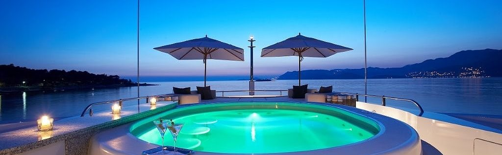 Yacht Charter On Deck Jacuzzi