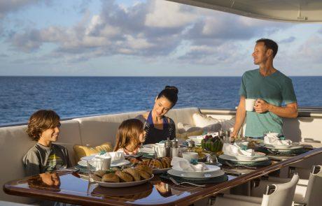 Marcato, 140' expedition yacht in Highborne Cay, the Exumas, Bahamas