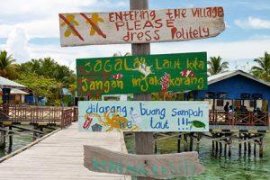 Raja Ampat Village Signs www.njcharters.com