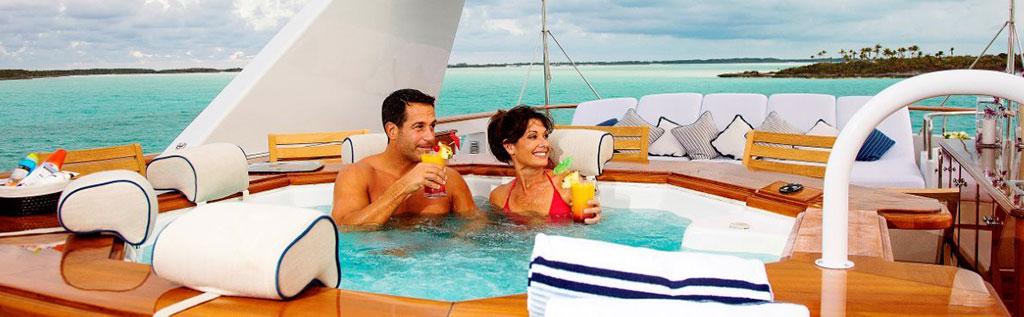Luxury yacht charter Top Sun Deck Jacuzzi Fun