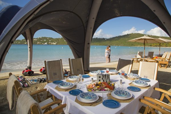 Private beach dinners are part of a Northrop-Johnson special customized yacht charter itinerary
