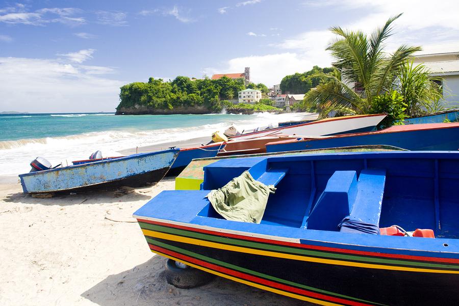 fishing boats, Sauteurs Bay, Grenada