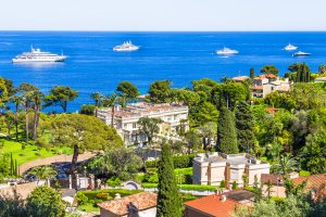 Aerial view of Cap Ferrat French Riviera