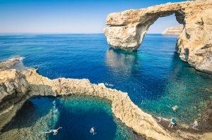 Azure Window in Gozo, Malta