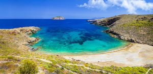 Greek islands, beaches of Serifos , Cyclades