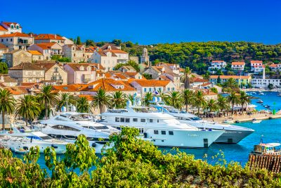 Hvar Harbor, Croatia