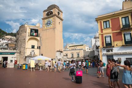 Capri Town, Piazza Umberto, njcharters.com