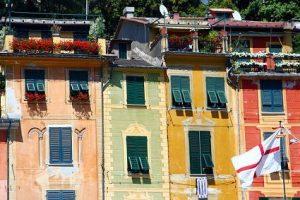 Facades of Portofino Italy njcharters.com